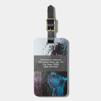 Wet pavement luggage tag