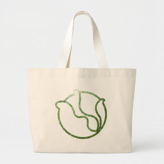 Wet Pine Head of Cabbage Large Tote Bag