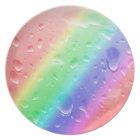 wet rainbow plate