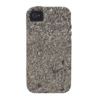 Wet sand and small stones with fragments of shells iPhone 4 cases