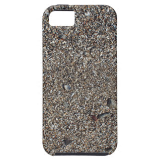 Wet sand and small stones with fragments of shells iPhone 5 covers