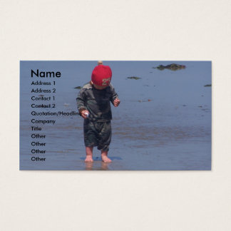 Wet Sand Between The Toes Business Card