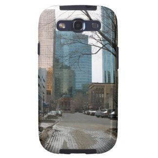 Wet Street in Downtown Edmonton Galaxy S3 Covers