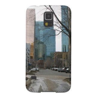 Wet Street in Downtown Edmonton Samsung Galaxy Nexus Cases