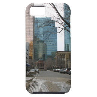 Wet Street in Downtown Edmonton iPhone 5 Cases