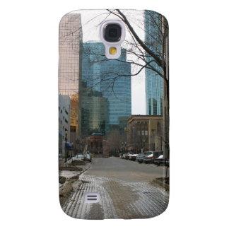 Wet Street in Downtown Edmonton Galaxy S4 Cover