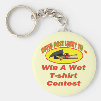 Wet T-shirt Contest Keychain