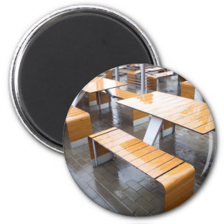 Wet tables outdoor cafe 2 inch round magnet