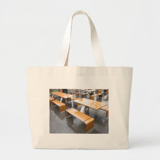 Wet tables outdoor cafe large tote bag