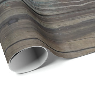 Wet Wood Plank Wrapping Paper