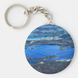 Wetland Ponds in Summer Keychain