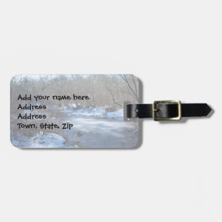 Wetland Ponds in Winter Luggage Tag