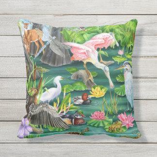 Wetland Wonders Outdoor Pillow