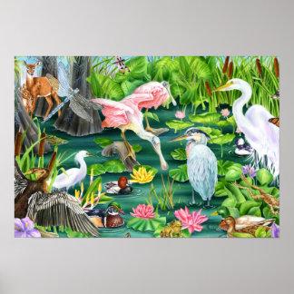 Wetland Wonders Poster