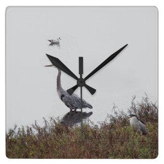 Wetlands Birds Wildlife Animals Photography Wallclocks