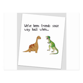 We've been friends postcard