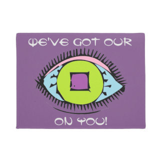 We've got our EYE on you Fun Abstract Eye Design Doormat
