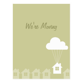 We've Moved Announcement Cards Postcard