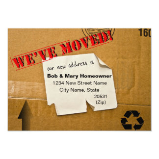 WE'VE MOVED - CARDBOARD BOX NOTICE CARD