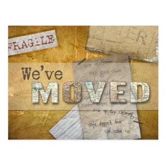 """""""We've Moved"""" Change of Address Postcard"""