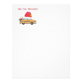 We've Moved! Christmas cab New Address Letterhead