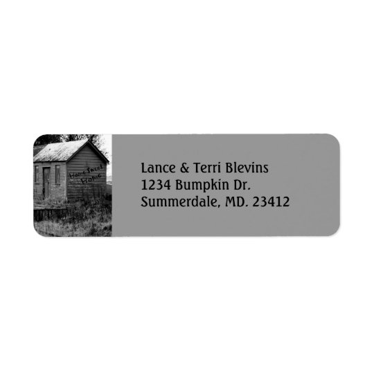We've Moved Country Shack Housewarming Return Address Label