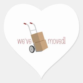 We've Moved! Heart Sticker