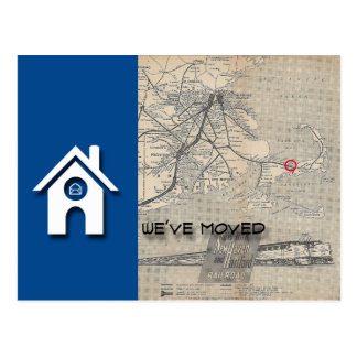 We've moved House Map Replace with your own Map Postcard