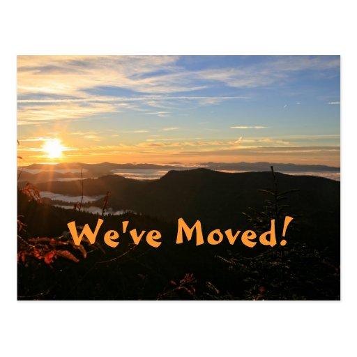 We've Moved! Mountain Sunrise Address Change Postcard