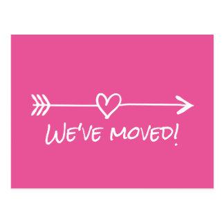 We've moved moving postcards for new address