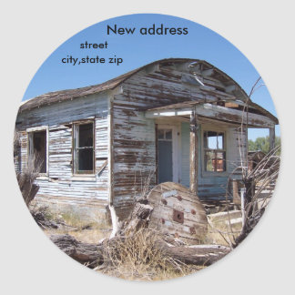 We've Moved New Address Classic Round Sticker