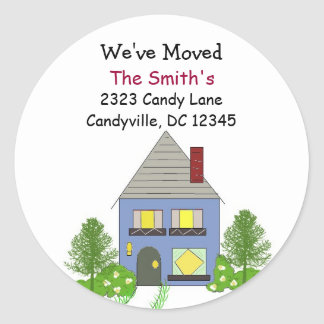 We've Moved Our Residence Classic Round Sticker