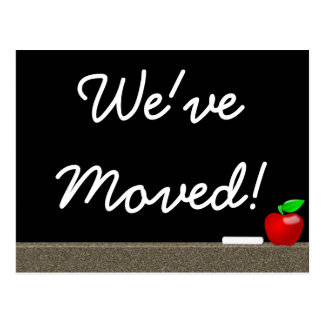 We've moved -- postcard announcement