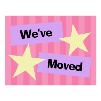 We've Moved Retro Style Announcement Postcard