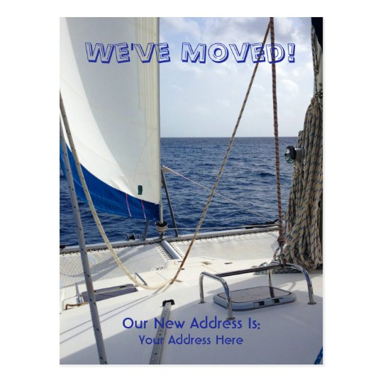 We've Moved Sailing Postcard