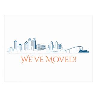 We've Moved San Diego City Skyline Postcard