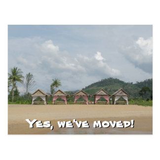 We've moved - Small Huts on Postcard