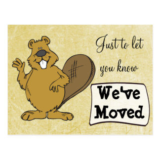 We've Moved Squirrel New Address Postcards
