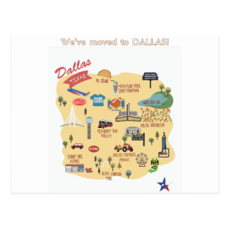 We've Moved to Dallas Texas Postcard