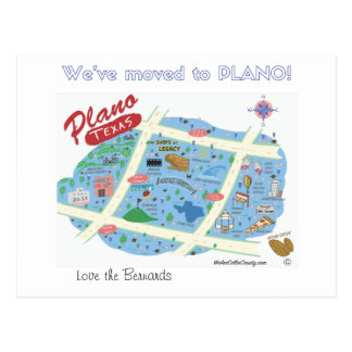 We've Moved to Plano Texas Postcard
