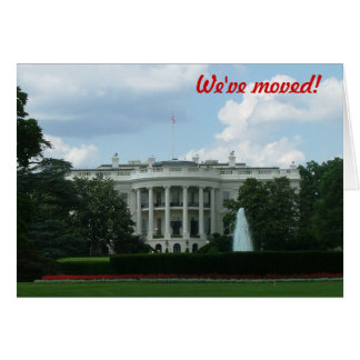 We've moved - to Washington DC Card