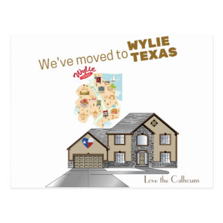 We've moved to Wylie Texas Postcard