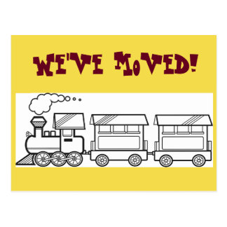 We've Moved Train Card