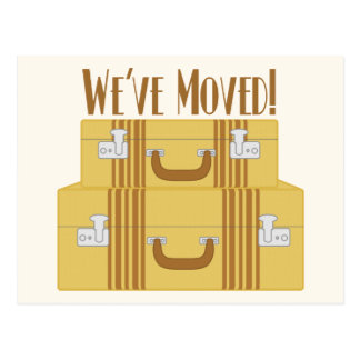 We've Moved - Vintage Suitcases Postcard