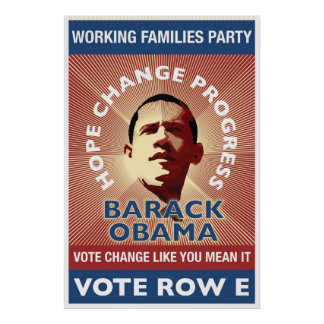 WFP - Vote Change Like You Mean It - T. Stoner Poster