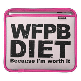 WFPB I'm Worth It (blk) iPad Sleeve