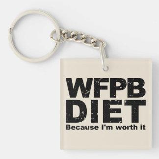 WFPB I'm Worth It (blk) Keychain
