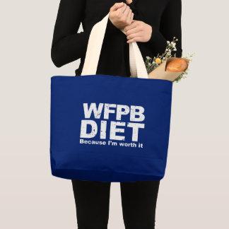 WFPB I'm Worth It (wht) Large Tote Bag