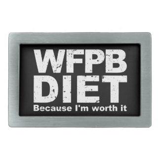 WFPB I'm Worth It (wht) Rectangular Belt Buckle