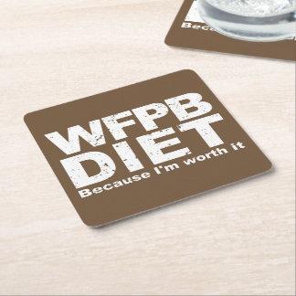 WFPB I'm Worth It (wht) Square Paper Coaster